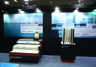 Lewatit‬® and Lewabrane‬® product displays at the LANXESS booth in Water Today Expo 2015