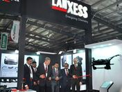 LANXESS booth inauguration at Plastindia 2015
